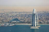 Burj Al Arab Hotel Dubai Luftbild