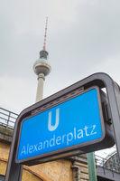 Alexanderplatz subway station in Berlin, Germany