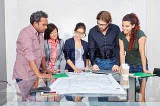 Startup Team bei der Projekt Analyse