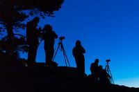 Fotografen bei Nachtaufnahmen
