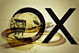 Plakat X für ein O vormachen...verdreht