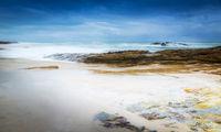 Stormy Beach Landscape
