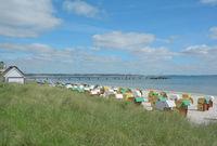 Strand im Osteebad Scharbeutz,Schleswig-Holstein,Deutschland