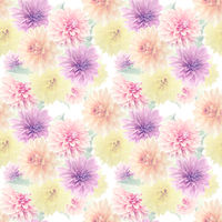 Seamless floral pattern with dahlia flowers