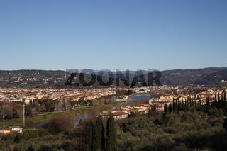 Florenz, Aussicht von Piazzale Michelangelo gen Osten