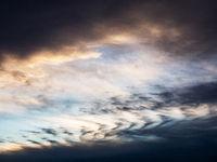 Düstere Wolen am Himmel