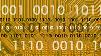 Binärcode über Computer Hauptplatine