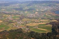 Leutwil Boniswil Hallwil Seengen Kanton Aargau Schweiz Gemeinde Luftbild