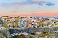 Train trip to Porto, Portugal
