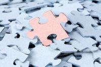 Jigsaw puzzle pile