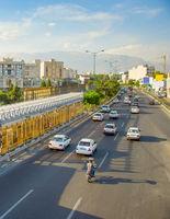 Tehran busy road, Iran