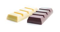 Dark and white chocolate bar.