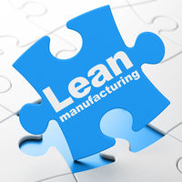Industry concept: Lean Manufacturing on puzzle background