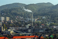 Blick auf Usti nad Labem (Tschechien)