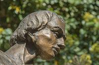 Statuendetail - Kopf eines Mannes