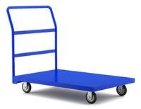 empty large market service cart isolated on white background. 3d illustration