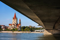 St Francis Church In Vienna From Under The Bridge