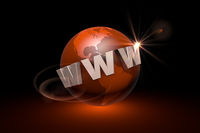 The era of Internet communications. Web technologies. Globalization. 3D illustration rendering.