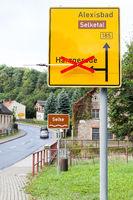 Umleitung nach Harzgerode über Alexisbad