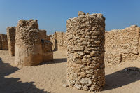 Kingdom of Bahrain. Königreich Bahrain. Saar archaeological site. Die Ruinen von Saar.