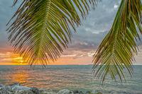 Sonnenuntergang am Fort Zachary Taylor, Key West, Florida