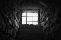 Cellar barred window