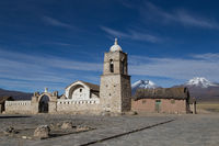 Small church Sajama National Park, Bolivia
