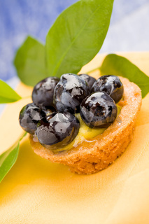 Pastries with blueberries