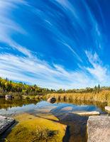 Huge flat stones in Winnipeg River