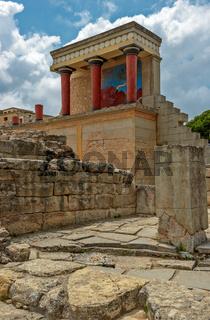 Knossos palace on Crete, Greece