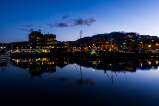 Waterfront at Dawn in Hobart, Tasmania, Australia
