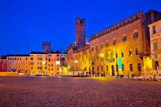 Mantova city Piazza Sordello evening view