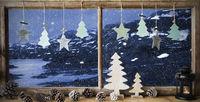 Window, Winter Landscape, Christmas Decoration