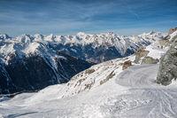 Ski slope in Switzerland, 4 valleys