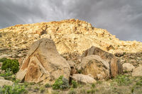 desert landscape of Book Cliffs in eastern Utah