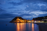 Tossa de Mar at Twilight in Spain