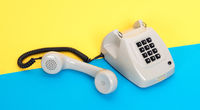 Vintage grey telephone