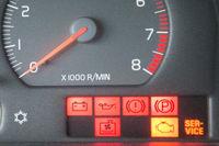 Rote Signalleuchten im Auto