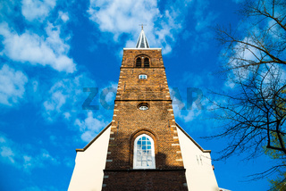 Fasade of the English Reformed Church at Begijnhof, Amsterdam.