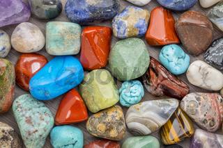 polished, colorful gemstone background