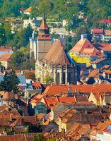 Brasov Old Town view. Romania