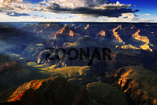 Sonnenuntergang Grand Canyon Nationalpark,  South Rim, Suedrand,