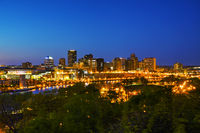 Overview of downtown St. Paul, MN