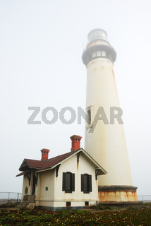 Pigeon Point Lighthouse In Fog