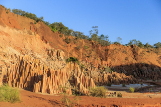 Abstract geological formation in Red Tsingy Madagascar