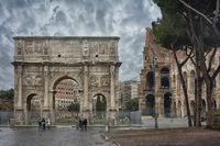 Der Konstantinsbogen in Rom