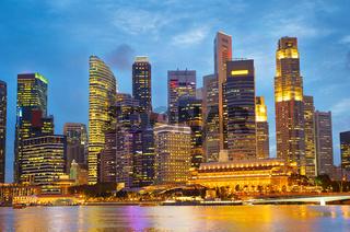 Beautiful Singapore at twilight
