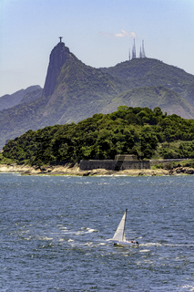 Christ Redeemer and Guanabara bay