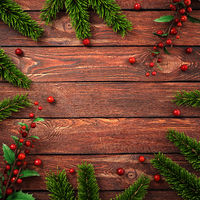 3D rendering dark christmas wooden background