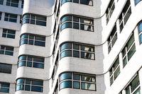 white  building exterior - modern building facade